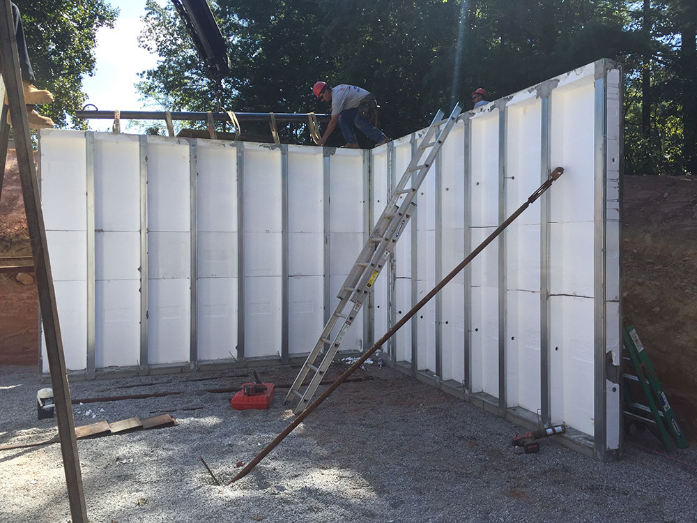 installing and stabilizing precast walls
